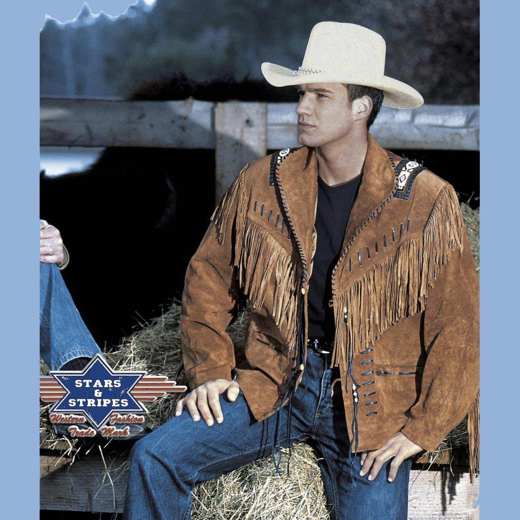 veste cuir homme western