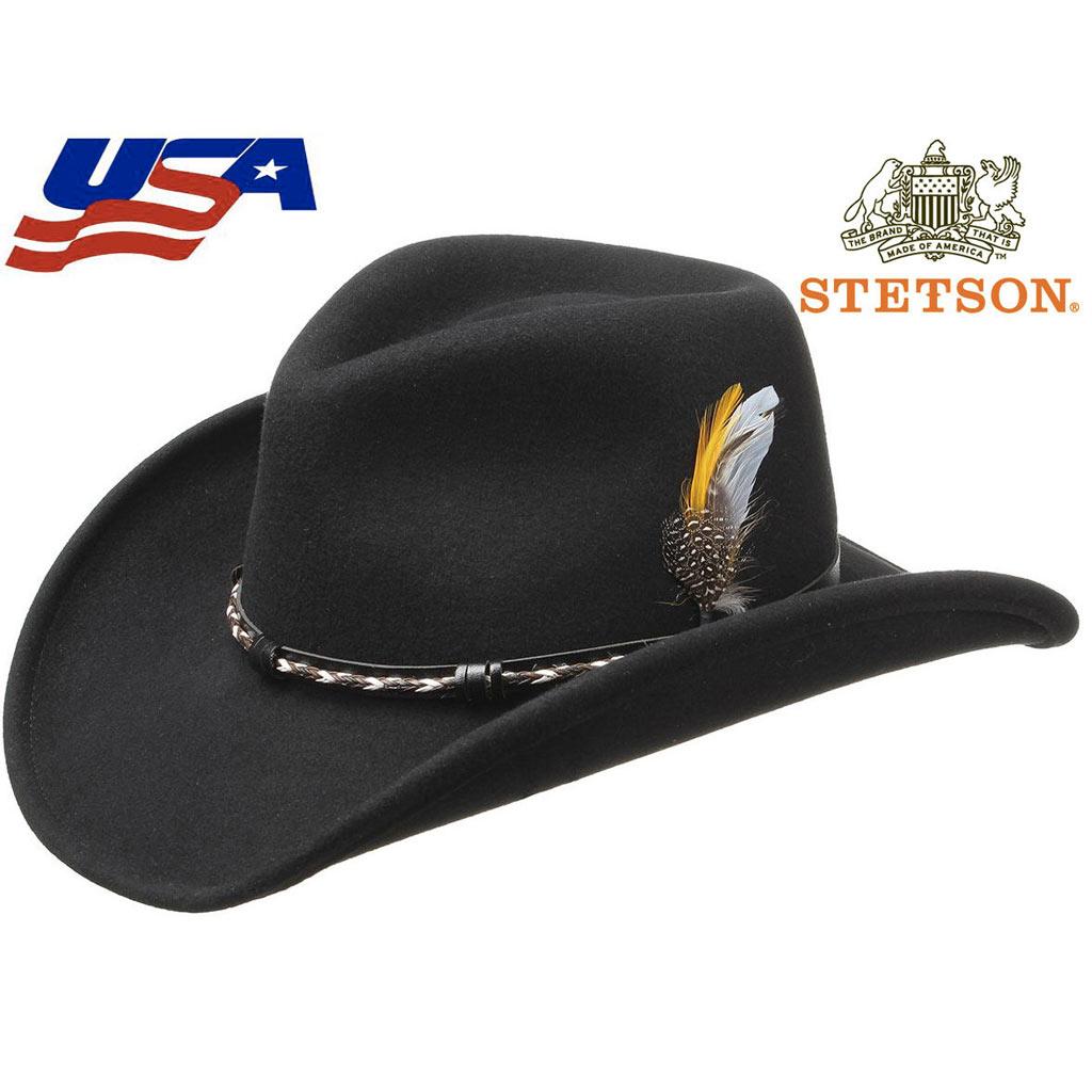 haut de gamme véritable aliexpress bonne vente Chapeau Stetson AMASA Western noir homme, femme