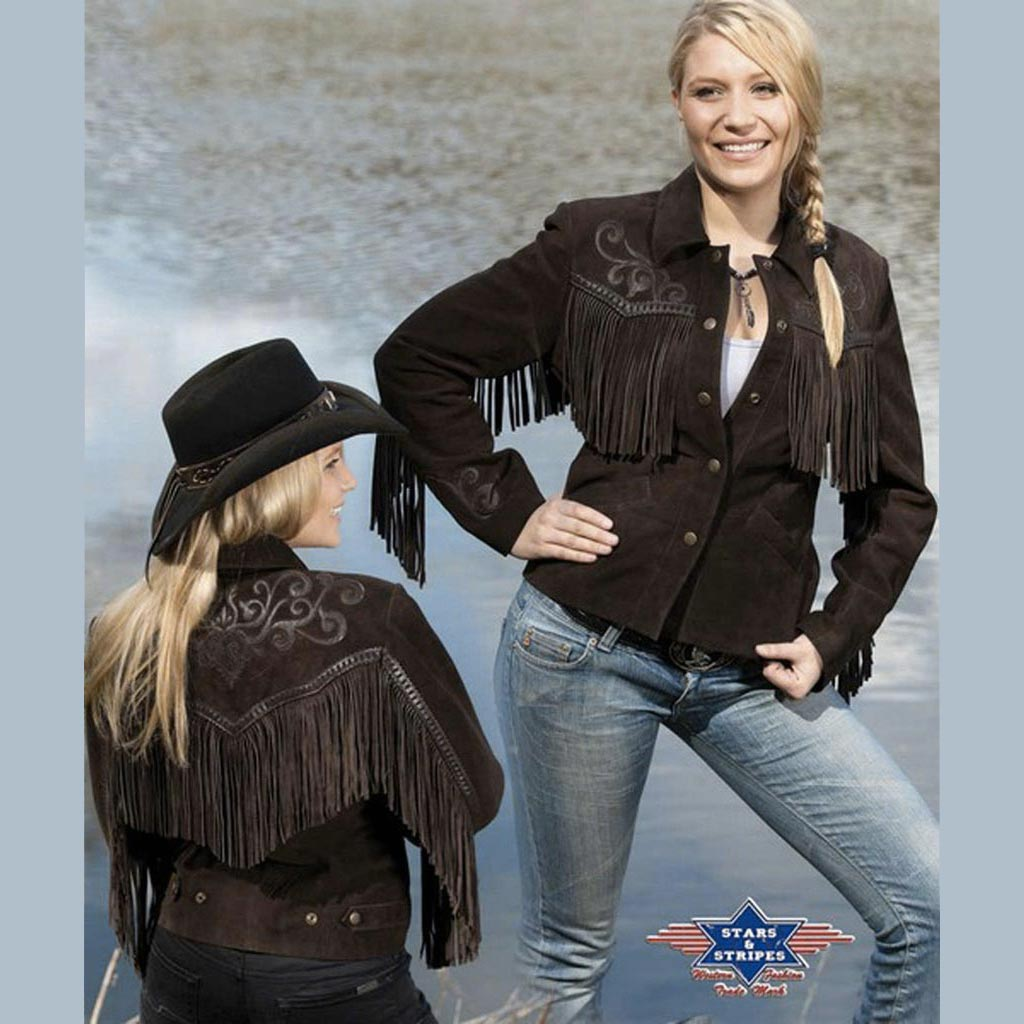 WesternPour Stripes En Veste Cuir Style Starsamp; FemmeMarronXxl hrtQds