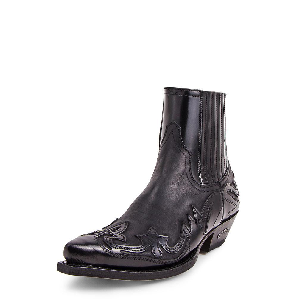 ref 4660 boots Sendra cuervo flora negro Homme, Femme