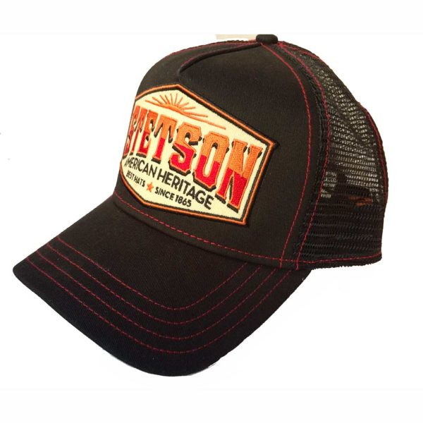 Trucker Cap AMRICAN HERITAGE STETSON NEW collection noir
