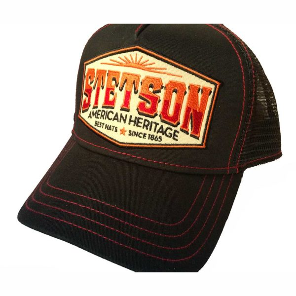 Trucker Cap AMRICAN HERITAGE STETSON NEW collection noir1