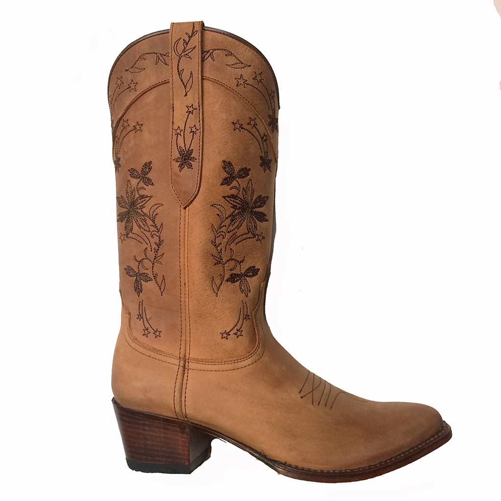 16034 Bottes femme Sendra western country marron série limited.