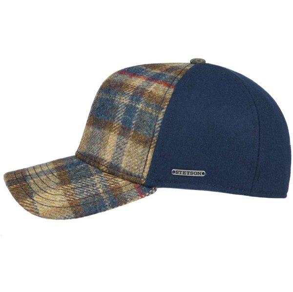 casquette-trucker cap VIRGIN WOOL CHECK stetson 7750303-la-joya-