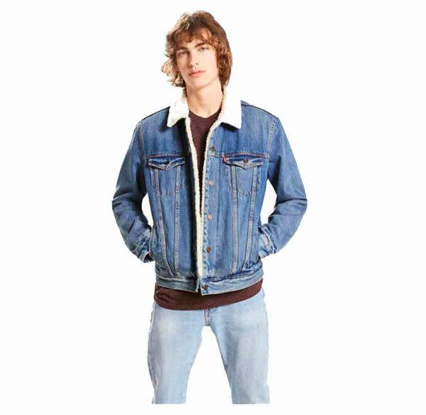163650040 LEVI'S TYPE 3 SHERPA TRUCKERT homme jean's lajoya bleu
