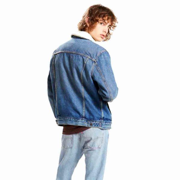 163650040 LEVI'S TYPE 3 SHERPA TRUCKERT homme jean's lajoya bleu1