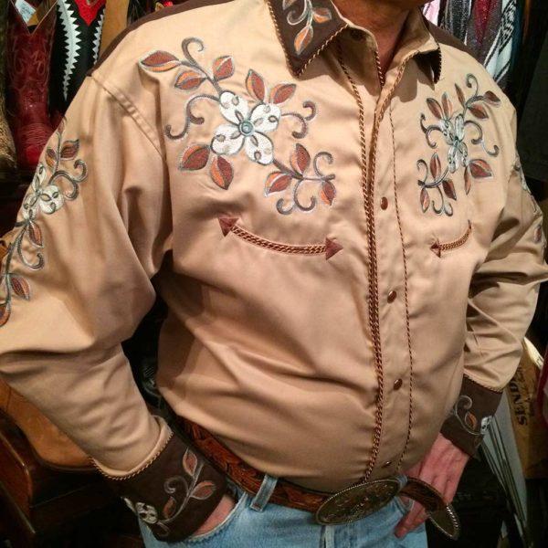36S7402-chemise-country-western-panhandle-slim-beige_marron-avec-broderie-fleur-série-limited-homme-la-joya2