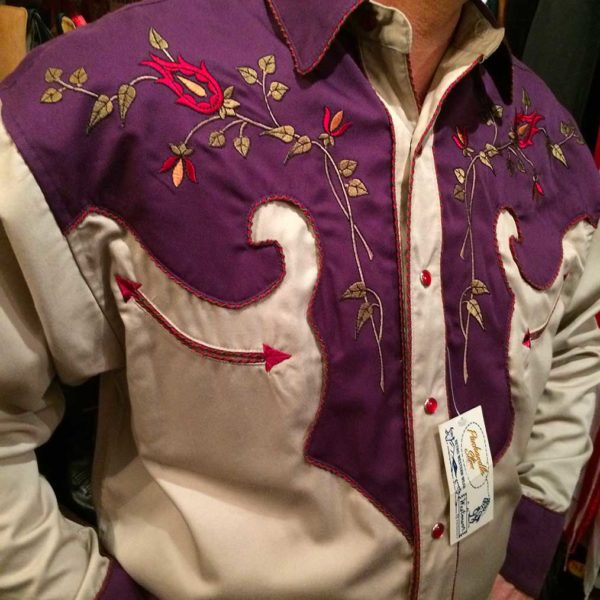 36S9224-chemise-country-western-panhandle-slim-VIOLETTE_BEIGE-avec-broderie-fleur-rose-série-limited-homme-la-joya3