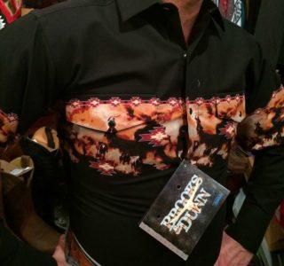 V6S2402-chemise-country-western-BROOKS-&-DUNN-NOIRE-avec-motif-rodeo-fleur-série-limited-homme-la-joya2