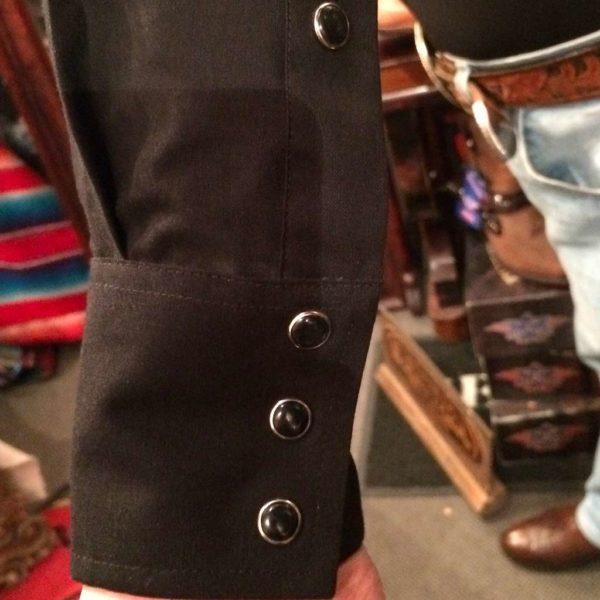 V6S2402-chemise-country-western-BROOKS-&-DUNN-NOIRE-avec-motif-rodeo-fleur-série-limited-homme-la-joya4