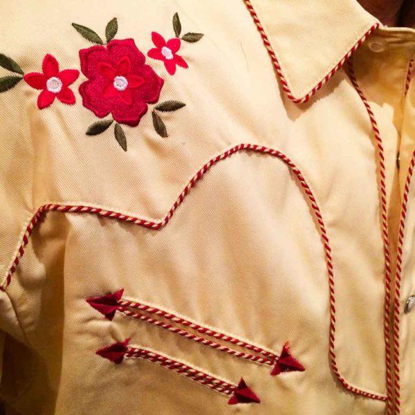 chemise PANHANDLE SLIM western country homme jaune clair avec broderie la joya western3