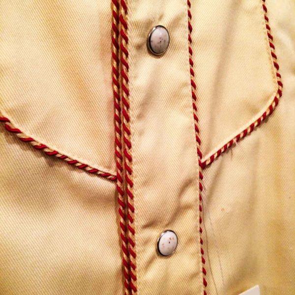 chemise PANHANDLE SLIM western country homme jaune clair avec broderie la joya western4