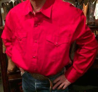 chemise-WESTERN-EXPRESS-western-country-rodéo-homme-ROUGE-SANS-broderie-la-joya-western