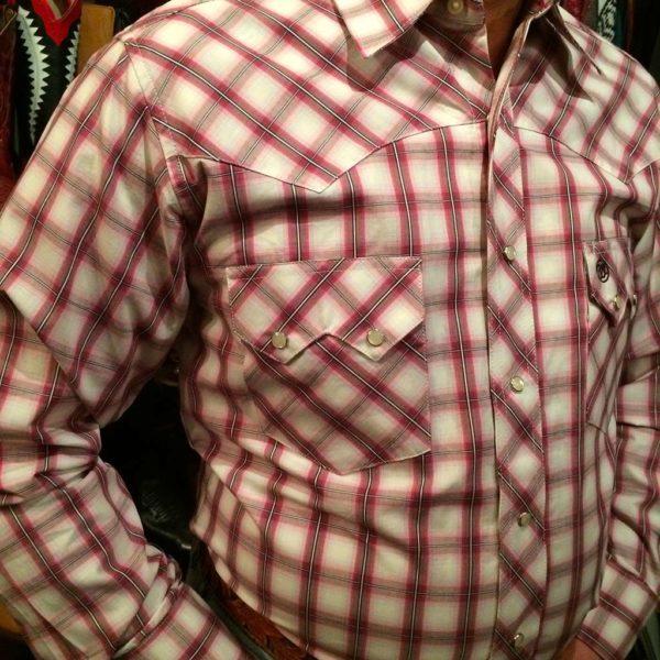 chemise-carreaux-country-western-WRANGLER–ROUGE-PRUNE_beige—série-limited-homme-la-joya-2