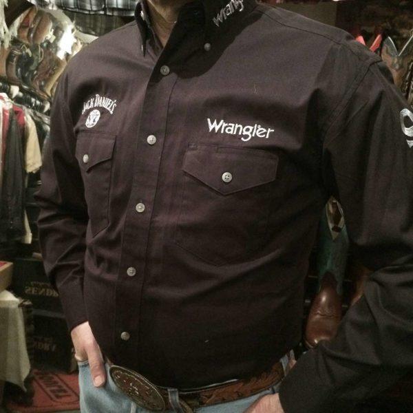 chemise-country-western-WRANGLER–noire–jack-daniel's-série-limited-homme-la-joya-