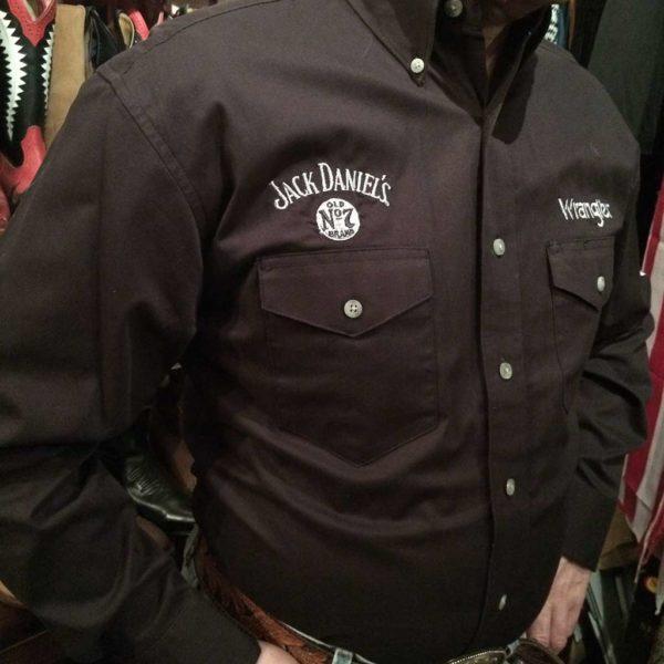 chemise-country-western-WRANGLER–noire–jack-daniel's-série-limited-homme-la-joya-2