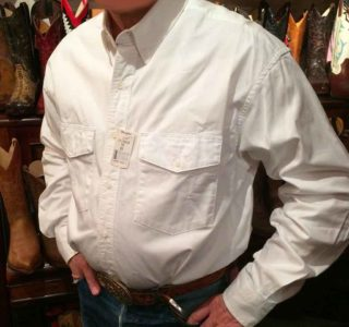 chemise wangler 71135CH western country rodéo homme blanche sans broderie la joya western