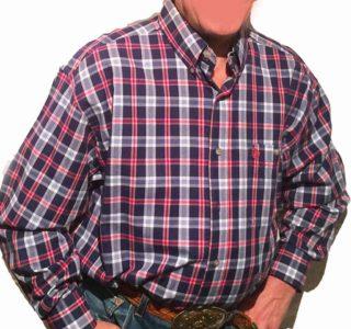 chemise-wangler-MGS671M-western-country-rodéo-homme-carreaux-ble-marine_rouge-SANS-broderie-la-joya-western