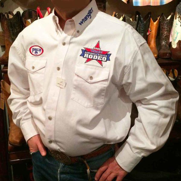 chemise-wangler-MP2057W-western-country-rodéo-homme-BLANCHE-avec-broderie-la-joya-western