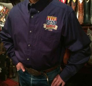 chemise-wangler-MP2120N-western-country-rodéo-homme-BLEU-MARINE-avec-broderie-la-joya-western