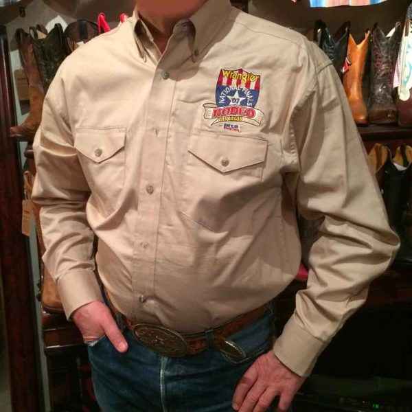 chemise-wangler-MP2120T-western-country-rodéo-homme-beige-avec-broderie-la-joya-western1