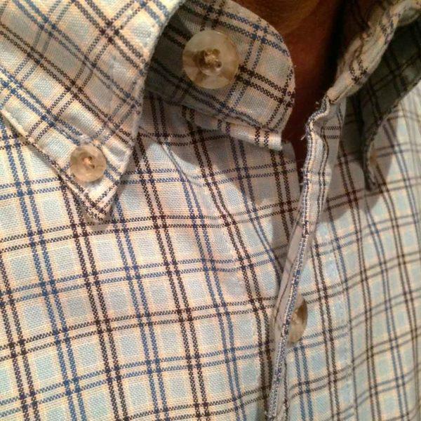 chemise wangler western country homme carreaux bleu clair sans broderie la joya western3