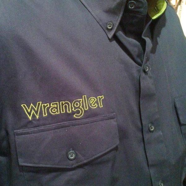 chemise wangler western country rodéo homme bleu marine avec broderie la joya western 1
