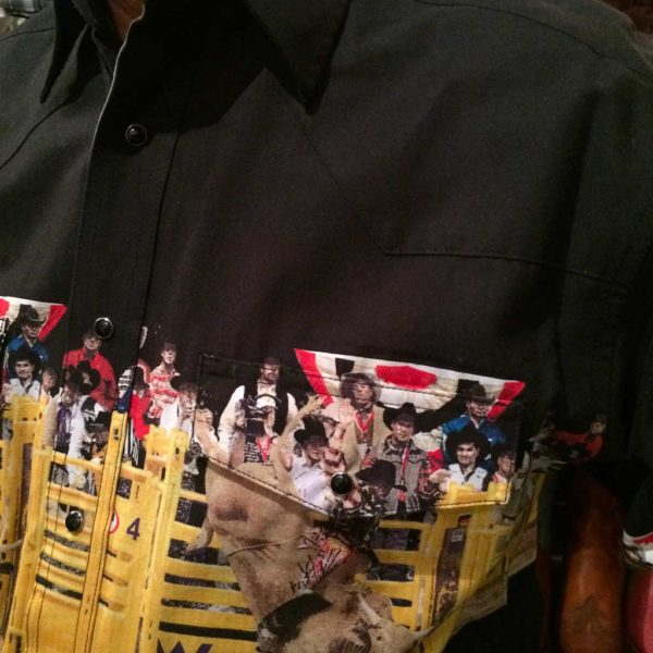 chemise western ref MC6091M WRANGLER homme NOIR motif imprimé rodeo cowboy lajoya1