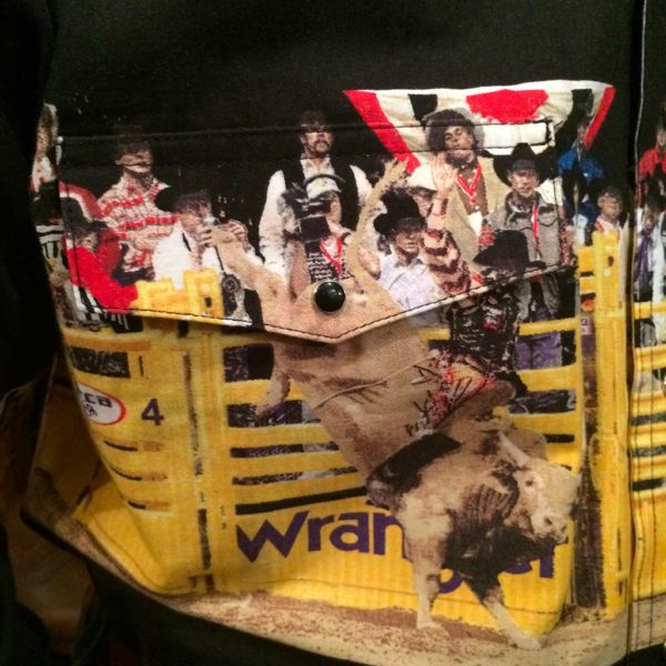 chemise western ref MC6091M WRANGLER homme NOIR motif imprimé rodeo cowboy lajoya4