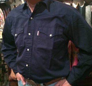 chemise western ref SHOOTER homme BLEU foncé jean's lajoya