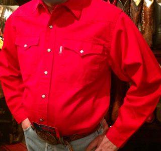 chemise western ref SHOOTER homme ROUGE jean's lajoya