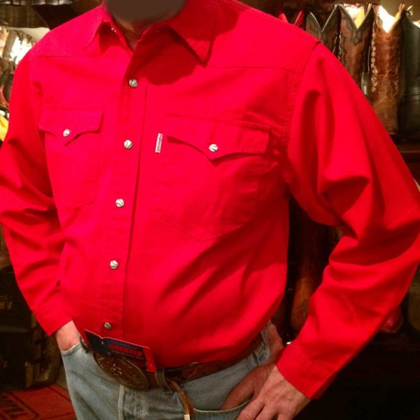 chemise western ref SHOOTER homme ROUGE jean's lajoya