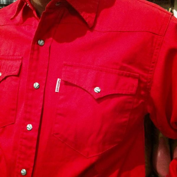 chemise western ref SHOOTER homme ROUGE jean's lajoya1