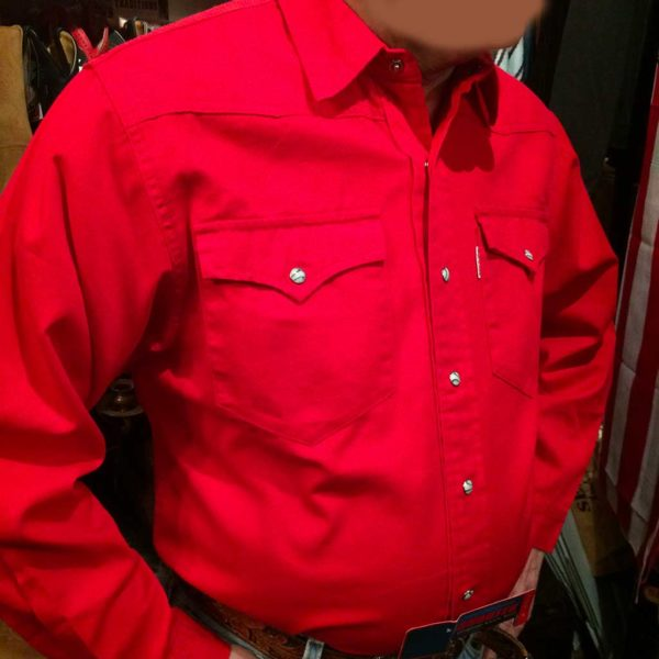 chemise western ref SHOOTER homme ROUGE jean's lajoya2