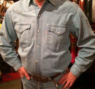 chemise western ref SHOOTER homme bleu clair jean's lajoya