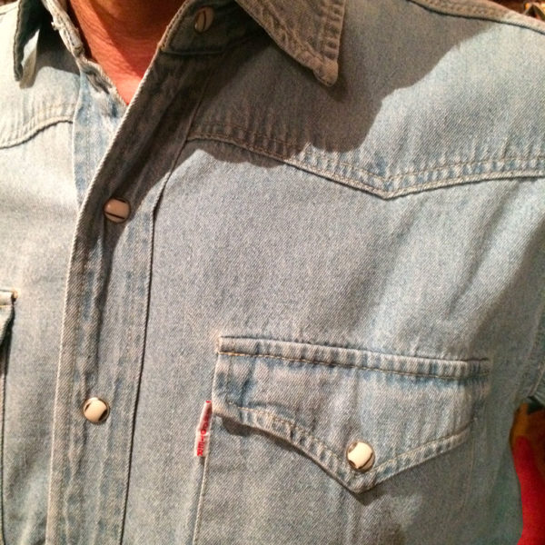 chemise western ref SHOOTER homme bleu clair jean's lajoya1