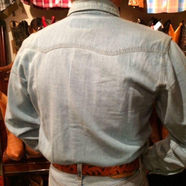 chemise western ref SHOOTER homme bleu clair jean's lajoya4