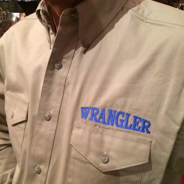 chemise western ref WRANGLER homme BEIGE BRODERIE bleu lajoya1