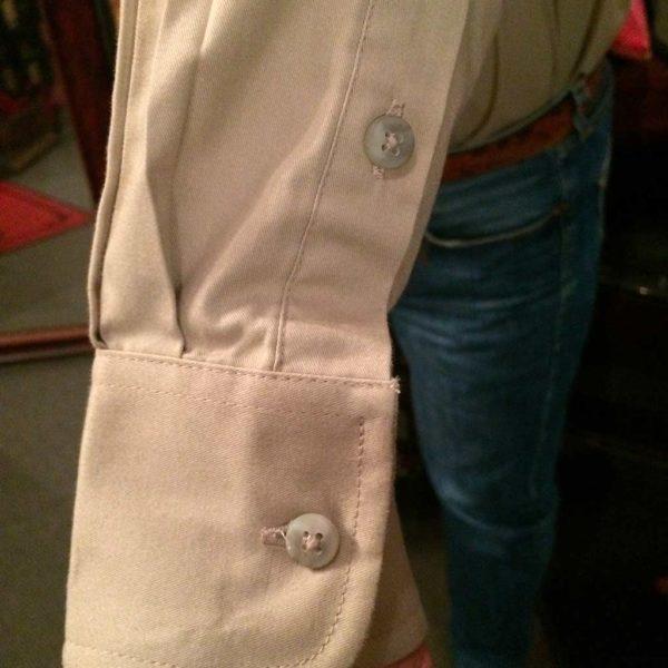 chemise western ref WRANGLER homme BEIGE BRODERIE bleu lajoya3