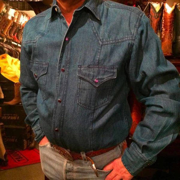 chemise western ref western express homme bleu foncé jean's USA lajoya