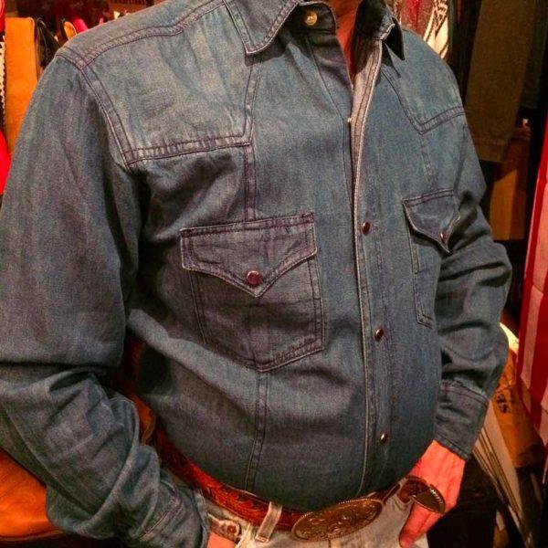 chemise western ref western express homme bleu foncé jean's USA lajoya.JPGé