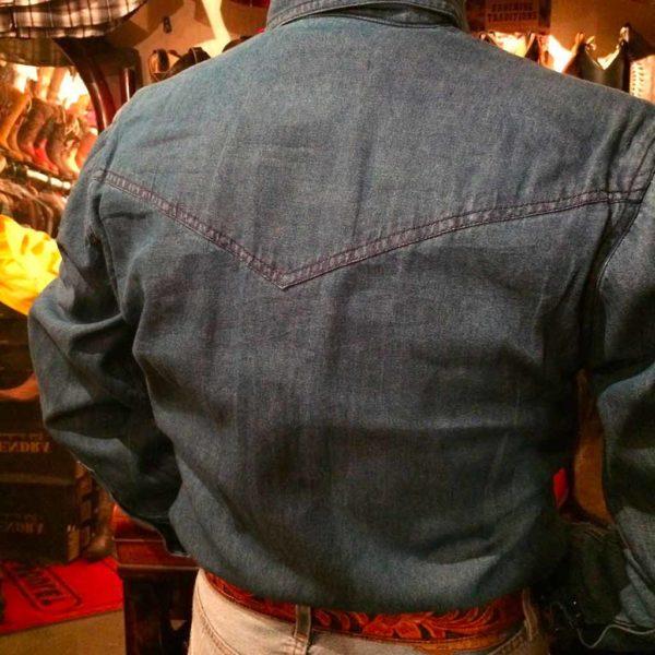 chemise western ref western express homme bleu foncé jean's USA lajoya.JPG