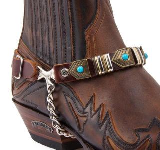 arnes_50_brown sangle botte sendra homme:femme country western la joya