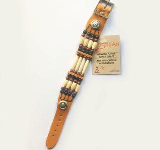 1031 XL marron clair Bracelets 4R AMERINDIEN HURON 5 Nations Canada homme femme la joya-western