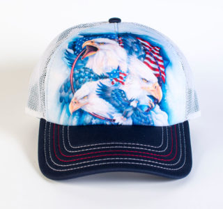 7648419-Casquette-The-Mountain-Adult-Trucker-Hat-Independence-Eagle-homme-femme-la-joya-western-bleue:blanche