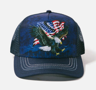 9410019-Casquette-The-Mountain-Adult-Trucker-Hat---Eagle-Talon-Flag-homme-femme-la-joya-western-bleue