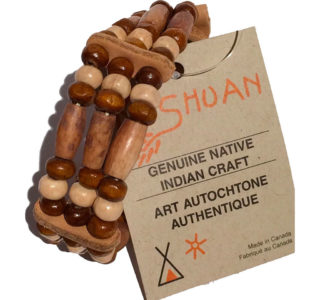 Bracelet-indien-en-os-Huron-Canada-3-rangée-la-joya-western-fait-main