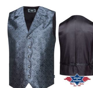 Gilet clay noir homme Stars and Stripes western country la joya