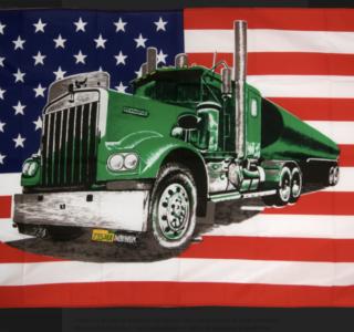 drapeau-usa-etats-unis-avec-camion-vert-90-x-150-cm