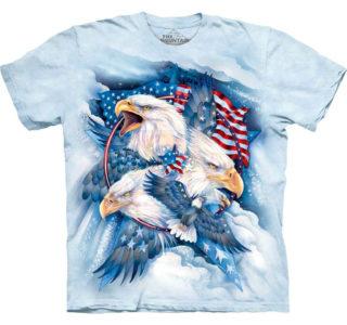 the_mountain-erwachsenen_t-shirt-MT4841-Allegiance-Patriotic-Eagle-homme-femme-indien-usa-aigle-bleu-délavé-lajoya-western
